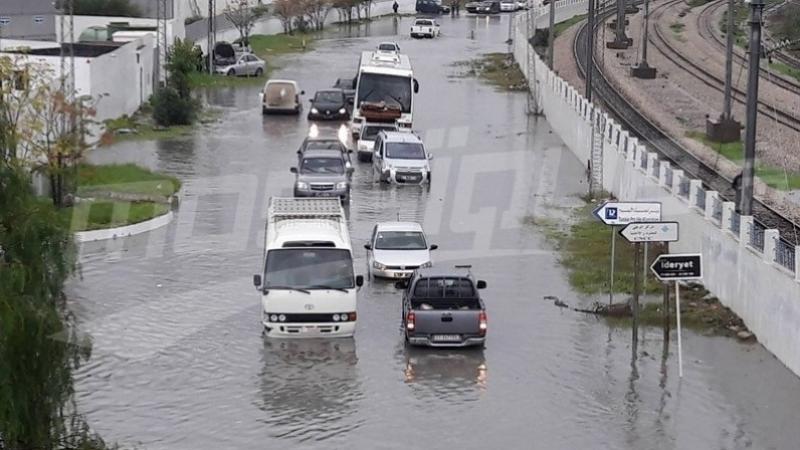 إثر الأمطار الغزيرة : والي بن عروس يدعو مستعملي الطريق إلى توخي الحذر