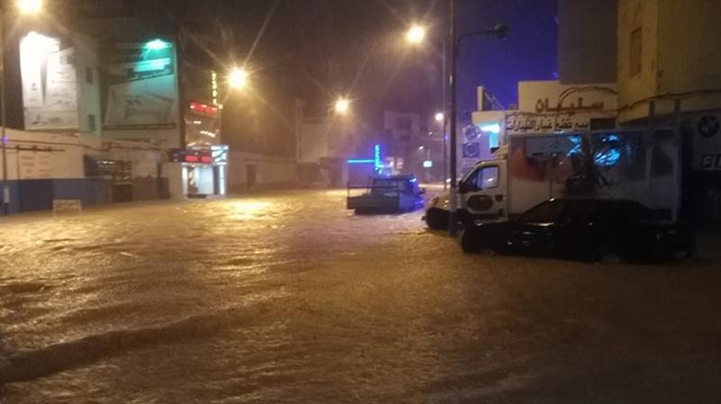 سوسة: إجلاء عائلة بحمام سوسة غمرت مياه الأمطار منزلها
