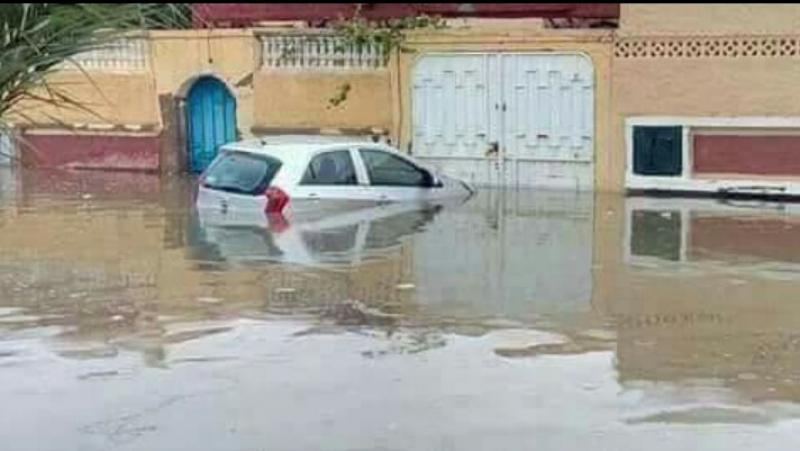 أمطار طوفانية تُغرق الصحراء الجزائرية