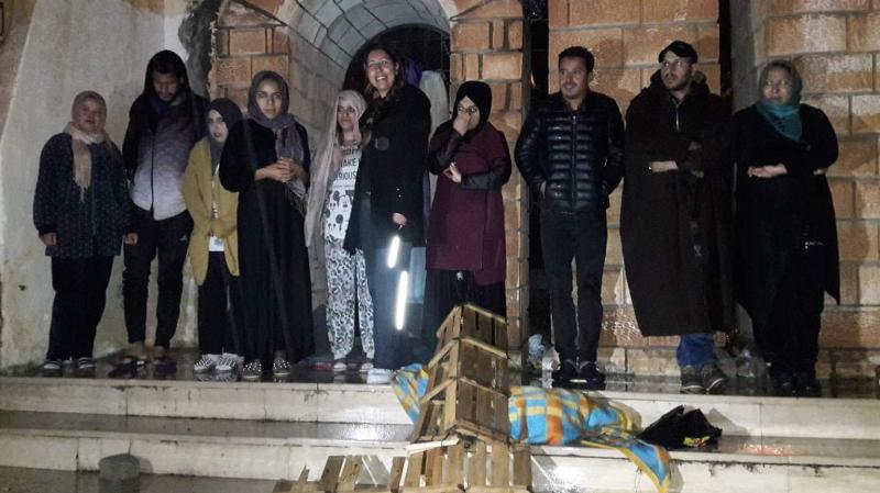 القصرين:معطلون منأصحابالشهادات العليايعتصمون تحت الأمطار