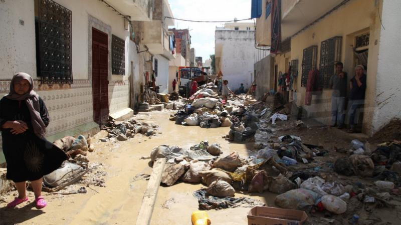 فيضانات نابل: توزيع أطنان من المواد الغذائية والأغطية على المتضررين