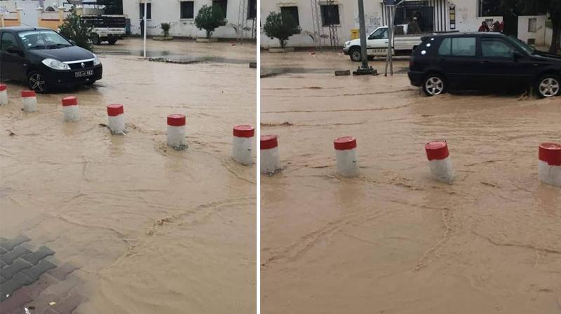 أمطار غزيرة في سليانة: تعليق الدروس المسائية إثر فيضان الأودية