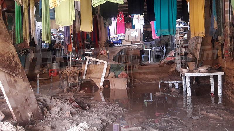 تمغزة: الأمطار تلحق أضرارا كبيرة بمحلات الصناعات التقليدية