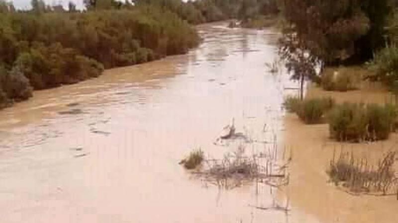 ارتفاع منسوب المياه بوادي مجردة على مستوى الجديدة