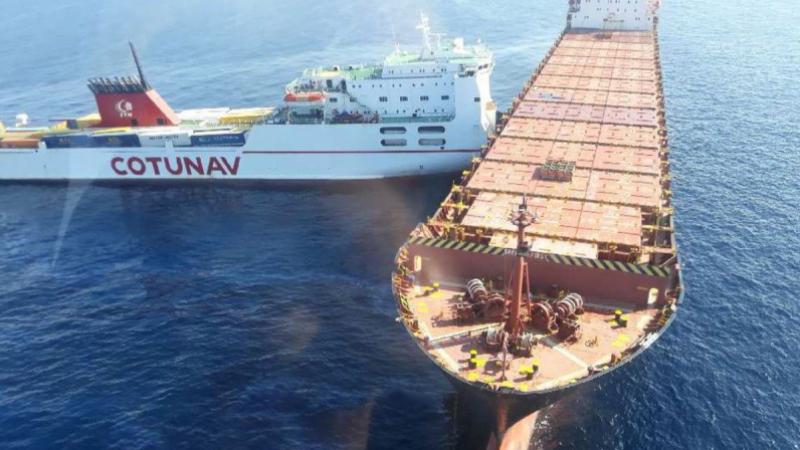 حادث الباخرتين: لجنة التحقيق تزور السفينة القبرصية لاستكمال التحقيقات