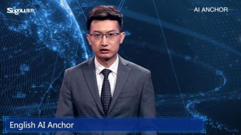 مذيع أخبار آلي