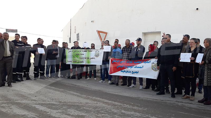سيدي بوزيد : أعوان الأسلاك الأمنية والسجنية يحتجون