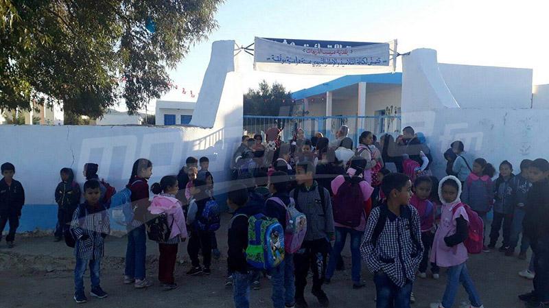 السبيخة: الأهالي يغلقون مدرسة ابتدائية بسبب نقص المعلمين