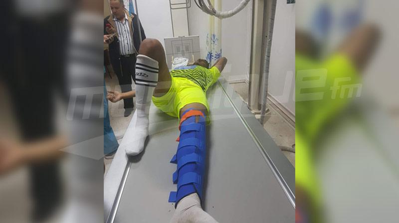 إصابة خطيرة لحارس ترجي جرجيس خبيب هلال