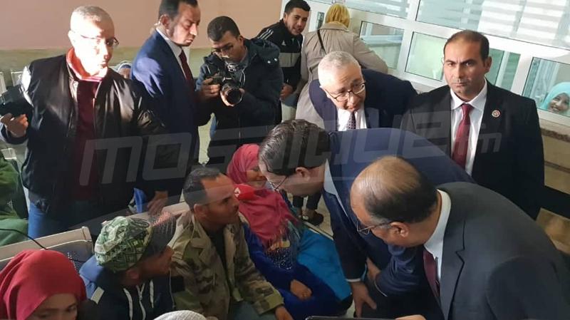 يوسف الشاهد في زيارة لمستشفى سهلول