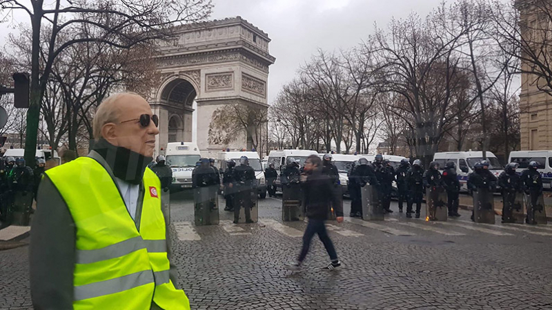 الباجي أم شبيهه في احتجاجات باريس