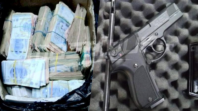 الكرم الغربي: 350 ألف دينار و500 غ كوكايين ومسدس داخل منزل