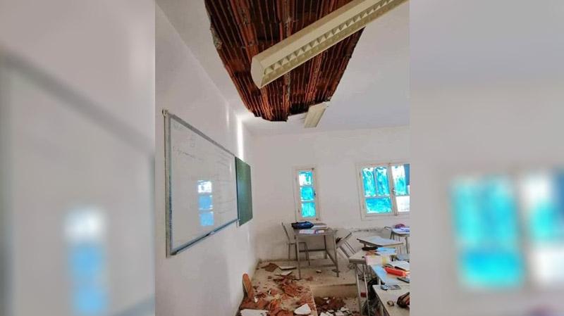 المهدية: سقف قسم ينهار فوق رؤوس الأستاذ والتلاميذ