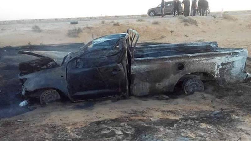 تطاوين: وفاة شخص في انقلاب سيارة تهريب