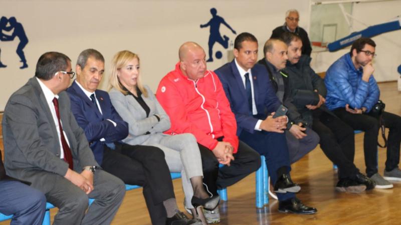 وزيرة الرياضة في الحصة التدريبية الأخيرة لمنتخب كرة اليد