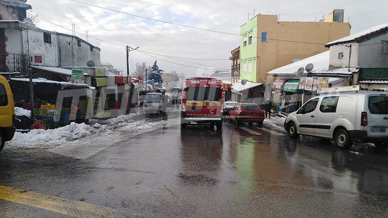 جندوبة: استئناف حركة المرور على مستوى الطريق الوطنية عدد 17