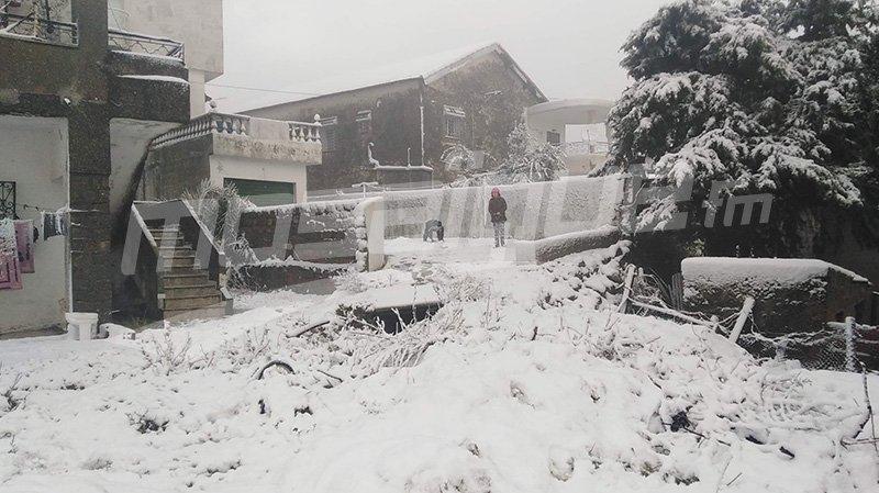 جندوبة: إخراج سيارات عالقة وتحذير من انزلاقات بالطرقات بسبب الثلوج