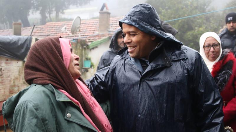 وزير أملاك الدولة في عين دراهم لمتابعة الوضع ومساعدة العائلات المعوزة
