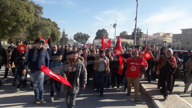 مسيرة احتجاجية وشلل تام في جندوبة