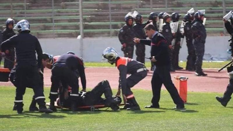 اثنان حالتهما خطيرة: إصابة 8 أمنيين في ملعب المنزه