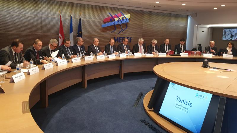 إجتماع مجلس المؤسسات التونسية والفرنسية