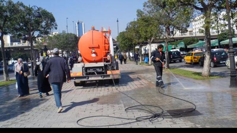 حملة نظافة في العاصمة إستعدادا للقمة العربية