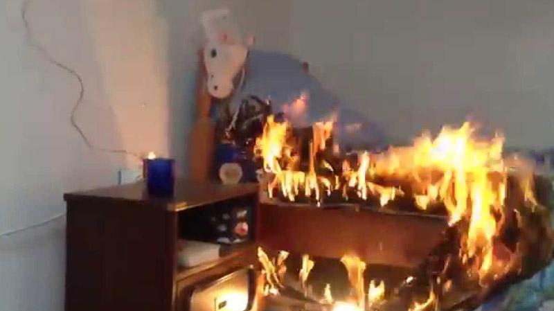 حفوز: طفل يضرم النار في غرفة مبيت