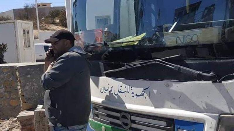 جربة:منع حافلة تطاوين من استعمال البطاح بالمرتفعات الغربية.
