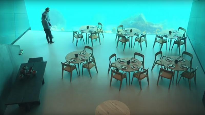 إفتتاح أكبر مطعم مغمور تحت الماء