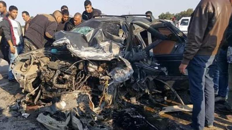 حادث أليم يسفر عن وفاة أمّ وابنها واصابة 3 أشخاص