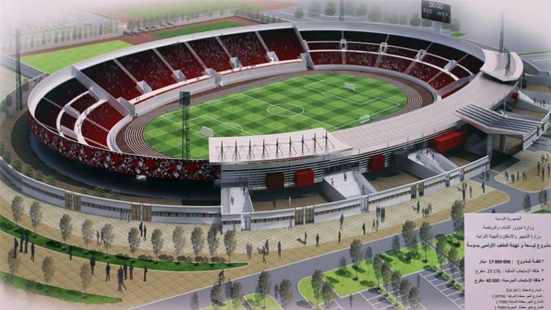 إنطلاق أشغال توسعة الملعب الأولمبي في سوسة