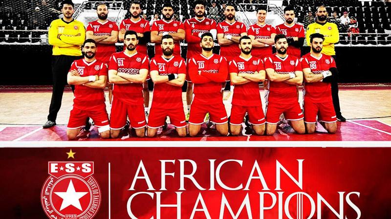 كرة اليد:النجم الساحلي بطل إفريقيا للأندية الفائزة بالكأس