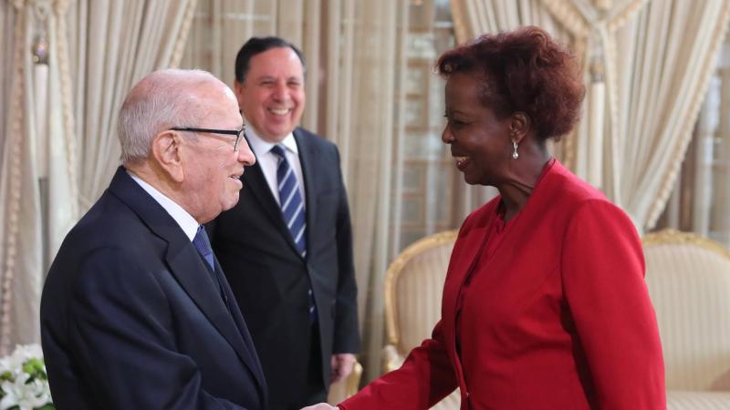 رئيس الجمهورية يلتقي الأمينة العامة للمنظمة الدوليّة للفرنكوفونيّة