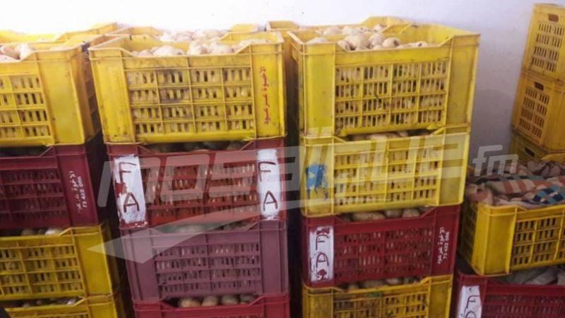 حجز 45 طن من البطاطا في سوسة