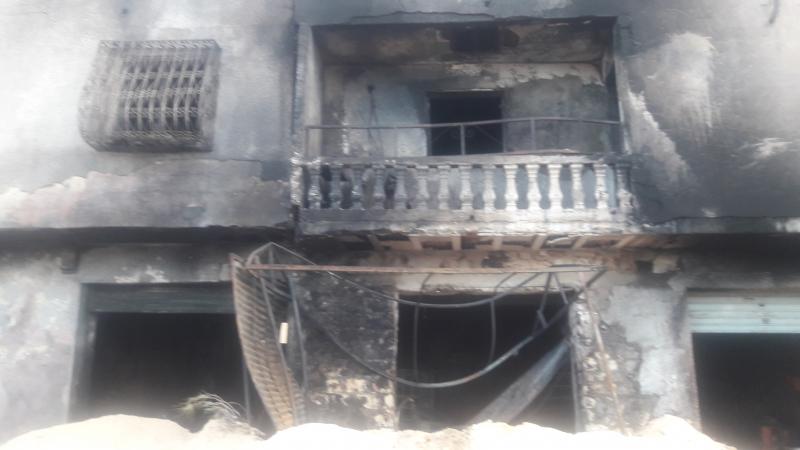 حريق محل البنزين مهرب: صاحب المحل أصيب بحروق بليغة