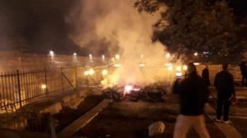 إخماد حريق نشب في المسجد الأقصى