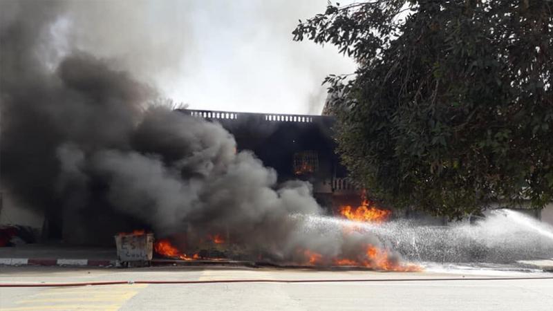 نفطة: حريق محل بيع محروقات يمتد إلى محلات مجاورة