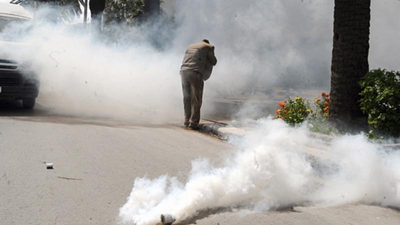 سيدي بوعلي: غاز مسيل للدموع لتفريق محتجين