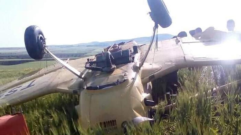 سقوط طائرة مداواة فلاحية في سليانة