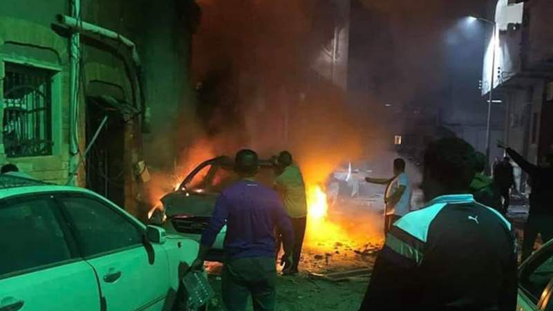 سقوط صواريخ عدة على العاصمة الليبية طرابلس