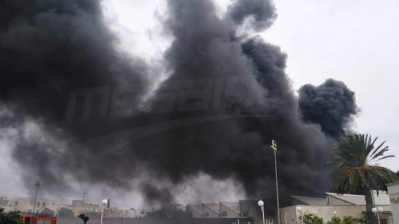 سوسة: حريق هائل بمصنع الطفالة