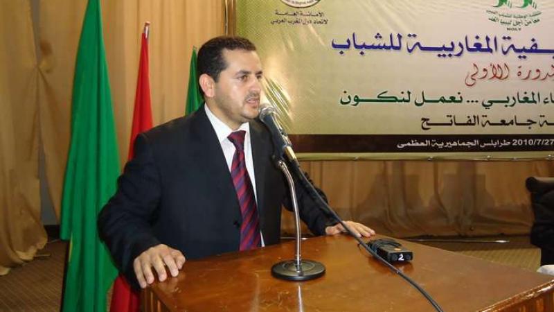 وزير الخارجية الليبييلغي مؤتمره الصحفي بتونس