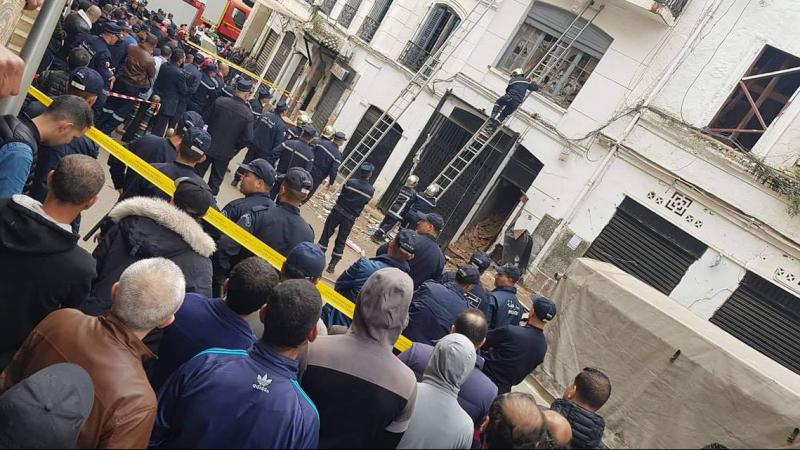 انهيار عمارة في الجزائر العاصمة