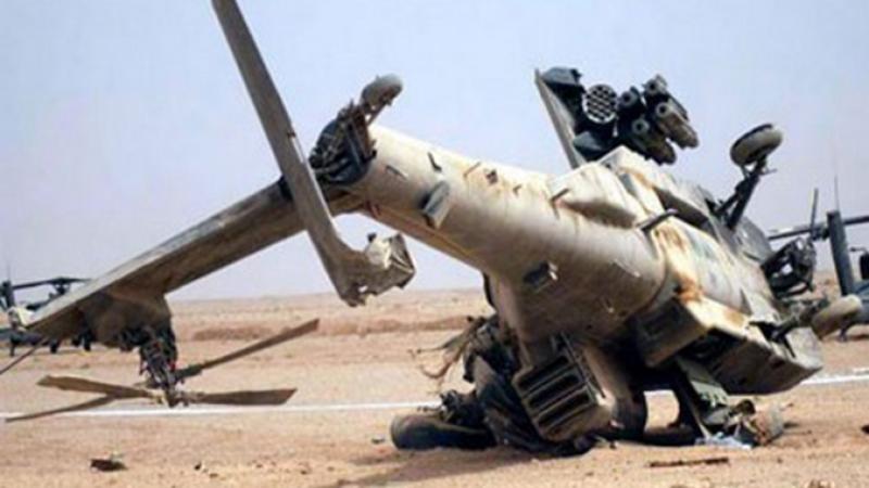 سقوط طائرة هيليكوبتر عسكرية في الجزائر