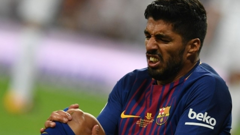 نادي برشلونة: سواريز يخضع لجراحة ويغيب لمدّة تصل 6 أسابيع
