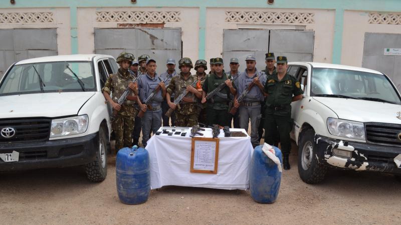 ملية مشتركة للأمن الجزائري تطيح بتشكيل إجرامي مسلح
