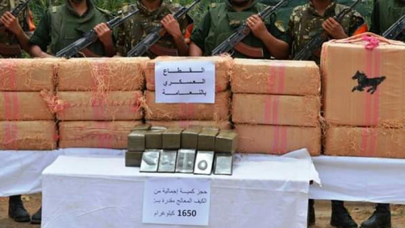 الجيش الجزائري يضبط كمية كبيرة من المخدرات
