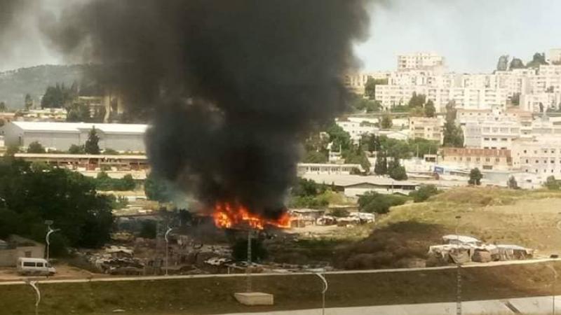 احتراق أكواخ قصديرية لمهاجرين تونسيين في الجزائر