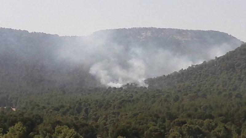 حريق في عمق جبل الشعانبي