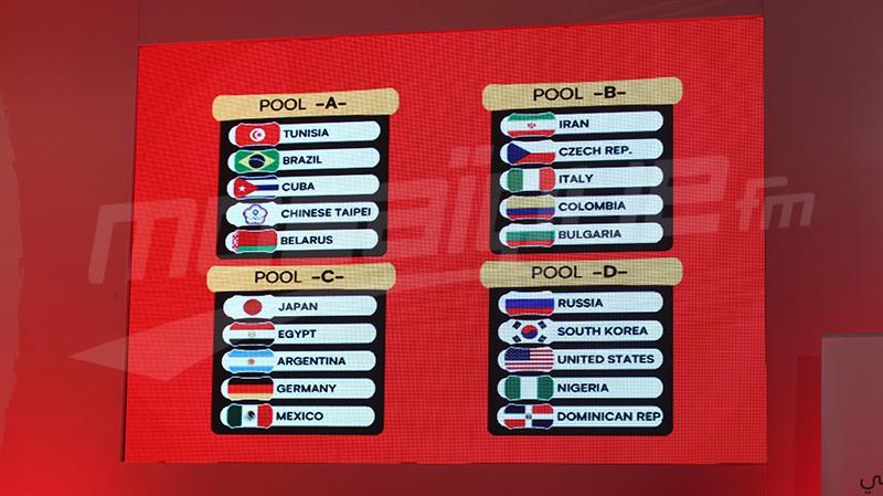 بطولة العالم للأصاغر للكرة الطائرة: مجموعة حديدية لتونس